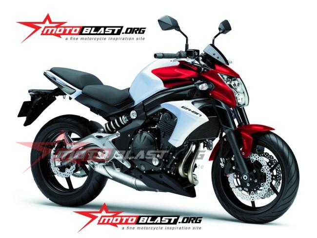 Kawasaki Er6n Merah Putih Seperti Yamaha New Vixion Lightening Gak Taunya Keren Juga Monkeymotoblog